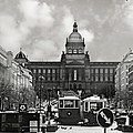 Prague Wenceslas Square And National Museum by Christine Till