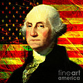 President George Washington V2 Square by Wingsdomain Art and Photography