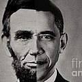 President Obama Meets President Lincoln by Doc Braham