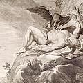 Prometheus Tortured by A vulture Print by Bernard Picart