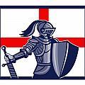 Proud To Be English Happy St George Day Card by Aloysius Patrimonio