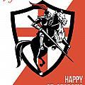 Proud To Be English Happy St George Day Retro Poster by Aloysius Patrimonio