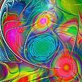 Psychedelic Colors Print by Anastasiya Malakhova