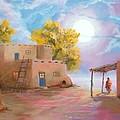 Pueblo de las Lunas Print by Jerry McElroy