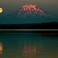 Puget Sound Moonrise by Benjamin Yeager