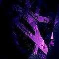 Purple Abstract Geometric by Mario Perez