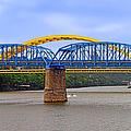 Purple People Bridge And Big Mac Bridge - Ohio River Cincinnati by Christine Till