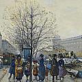 Quai Malaquais Paris by Eugene Galien-Laloue