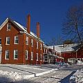 Quaint Maine Winter Farm by Catherine Melvin