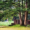 Quiet Park Corner. De Haar Castle by Jenny Rainbow