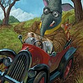 Racing Car Animals by Martin Davey