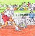 Rafa Vs. Novak by Steven White