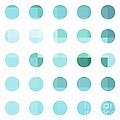 Rainbow Dots Aqua  by Pixel Chimp