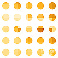 Rainbow Dots Orange by Pixel Chimp