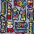 Rainbow Text by Tim Gainey