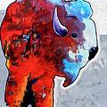 Rainbow Warrior Bison by Joe  Triano
