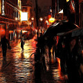 Rainy Day In Soho by Stefan Kuhn