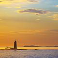 Ram Island Lighthouse Casco Bay Maine by Diane Diederich