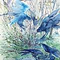 Ravens Wood Print by Trudi Doyle