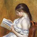 Reading Print by Pierre Auguste Renoir