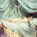 Reclining Nude in an Elegant Interior Print by Madeleine Lemaire