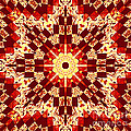 Red And White Patchwork Art by Barbara Griffin
