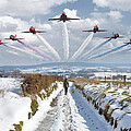 Red Arrows Over Epen by Nop Briex
