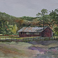 Red Barn by Janet Felts