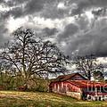 Red Barn On The Boswell Farm by Reid Callaway