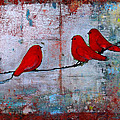 Red Birds Let It Be by Blenda Studio