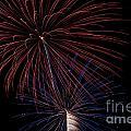 Red Blue Fireworks by Jason Meyer