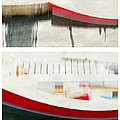 Red Boat At The Dock by Patricia Strand