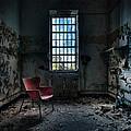 Red Chair - Art Deco Decay - Gary Heller by Gary Heller