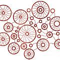 Red Circles by Frank Tschakert