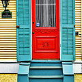 Red Door In New Orleans by Christine Till