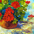 Red Geraniums I by Peggy Wilson