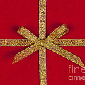 Red Gift With Gold Ribbon by Elena Elisseeva