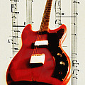 Red Guitar Print by Bill Cannon