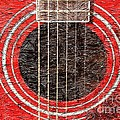 Red Guitar - Digital Painting - Music by Barbara Griffin