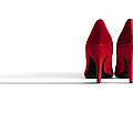 Red High Heel Shoes by Natalie Kinnear