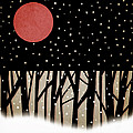 Red Moon And Snow by Carol Leigh
