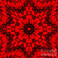 Red Patchwork Art by Barbara Griffin