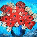 Red Poppies And White Daisies by Ramona Matei
