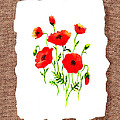 Red Poppies Decorative Collage by Irina Sztukowski