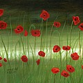 Red Poppies In The Woods by Cecilia Brendel
