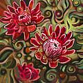Red Proteas by Jen Norton