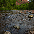 Red River Crossing Under Cathedral Rock by Dave Dilli
