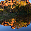Red Rock Reflections by Mike  Dawson