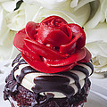 Red Rose Cupcake by Garry Gay
