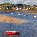 Red Sail Boat by Adrian Evans